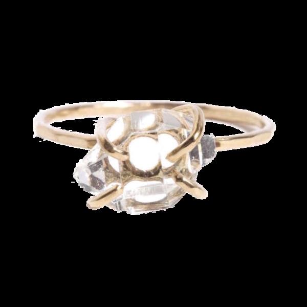 Melissa Joy Manning Prong SET Herkimer Diamond Ring