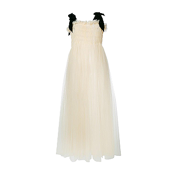 Molly Goddard Velvet Strap Tulle Dress