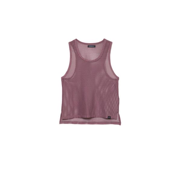 Koral Activewear Crescentic Open-Mesh Crop Top, Pink/Gold