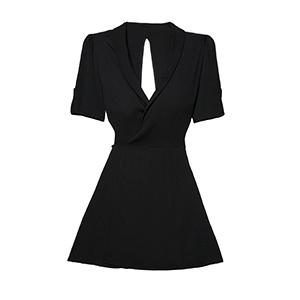 Reformation Calais Black Dress