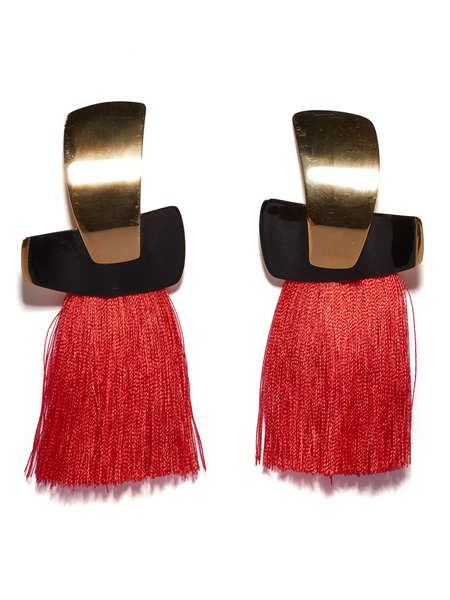 Lizzie Fortunato Totem Tassel Earrings