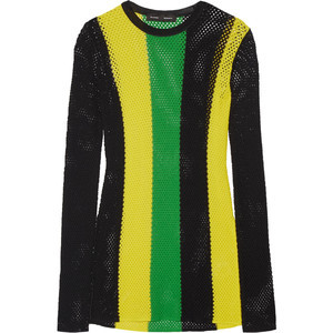 Proenza Schouler Striped Mesh Top
