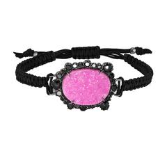 Kimberly McDonald Cobalto Calcite and Diamond Macrame Bracelet