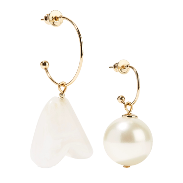 SIMONE ROCHA Gold-tone faux pearl earrings